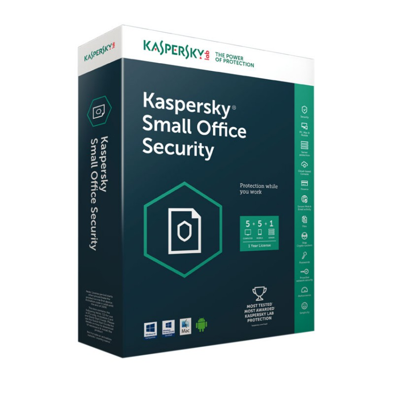 KASPERSKY - Kaspersky Small Office Security 5.0. 10 Postes+1 Serveur prix tunisie