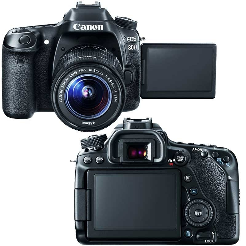 CANON Appareil Photo Reflex EOS 80D 24,2MP - WiFi 2