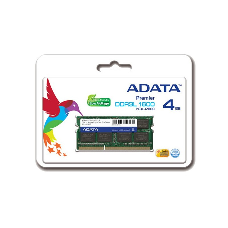 ADATA - Barette Mémoire 4Go DDR3 pour Pc Portable-Low Voltage - ADDS1600W4G11-R prix tunisie
