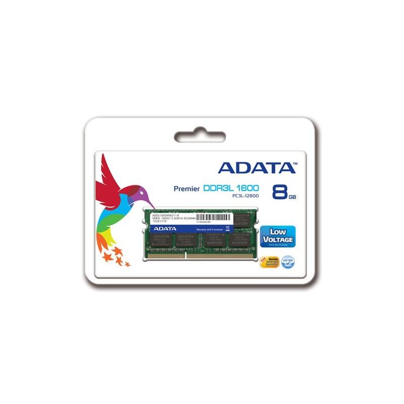 ADATA - Barette Mémoire 8Go DDR3L pour Pc Portable - ADDS1600W8G11-R prix tunisie