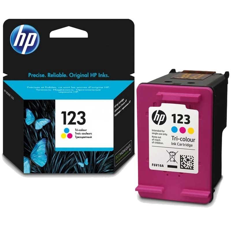 HP - Cartouche d'encre 123 trois couleurs - 100 pages prix tunisie