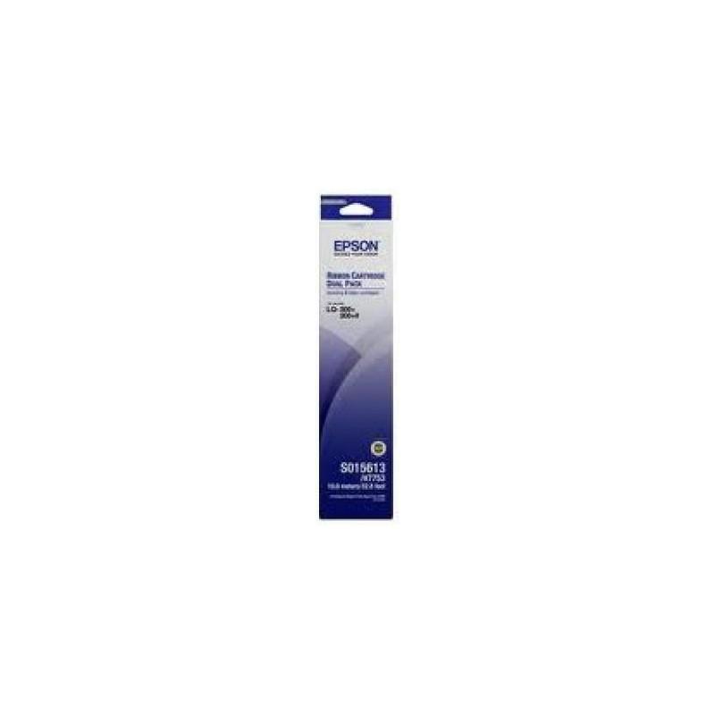 EPSON - RUBAN NOIR C13S015613BA (PACKS DE 2) prix tunisie
