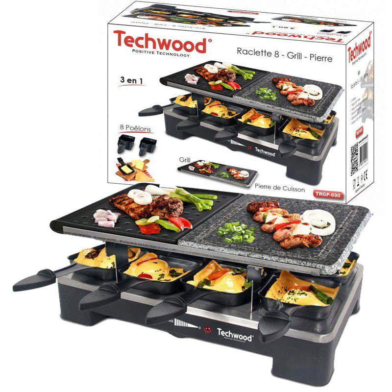 Techwood - APPAREIL DE CUISSON 3EN1 TRGP-690 1400W - NOIR prix tunisie