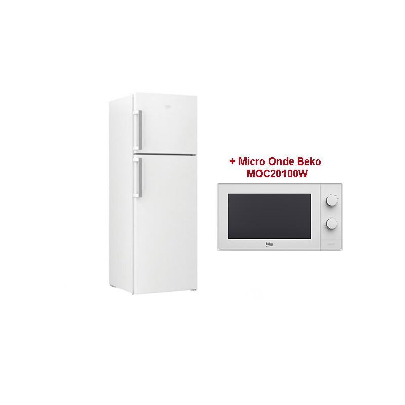BEKO - Réfrigérateur RDNE390M21W 390 Litres Blanc prix tunisie