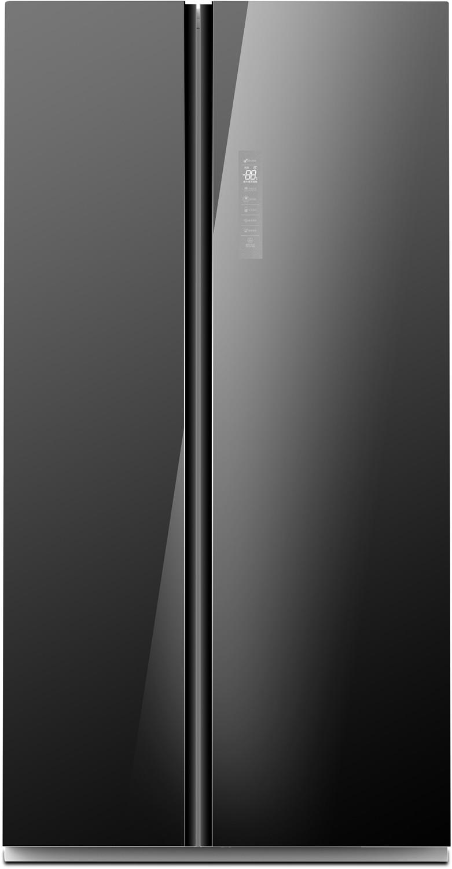 MIDEA - Réfrigérateur HC-689WE-B Side by Side 590L Black Mirror prix tunisie