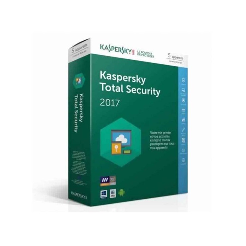 KASPERSKY - Total Security 5 postes 1 an prix tunisie