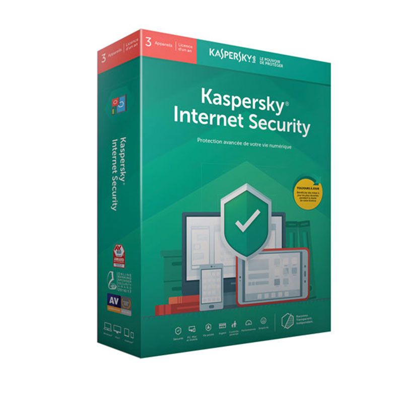 KASPERSKY - ANTIVIRUS INTERNET SECURITY 2019 - 1 AN / 1 PC prix tunisie