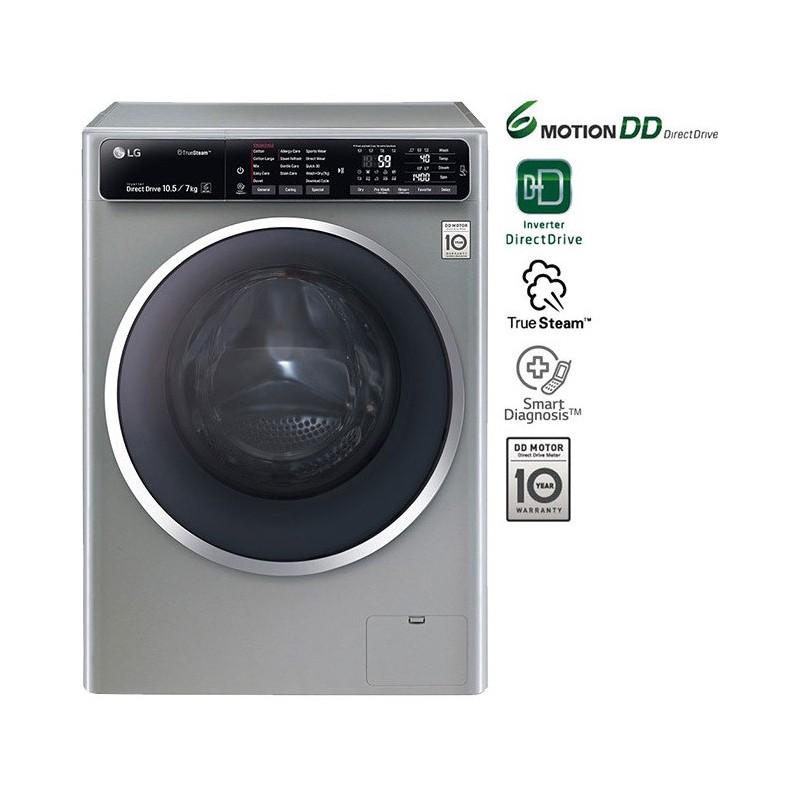 LG - Machine à laver Automatique FH4U1JBHK6N 6 Motion 10.5kg - Silver prix tunisie