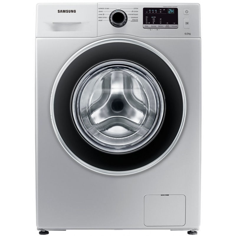 SAMSUNG - Machine a laver 6 KG WW3000J avec tambour Diamond Drum Silver  prix tunisie