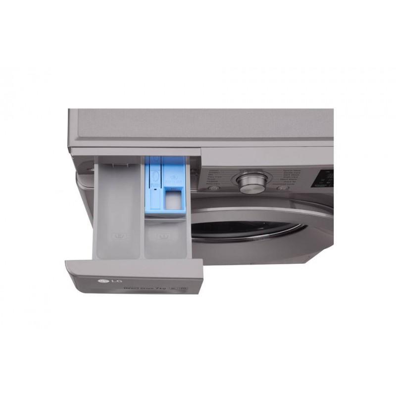 LG - Machine à Laver Direct Drive Six Motion 7 kg luxury FH496QDG24 silver  prix tunisie
