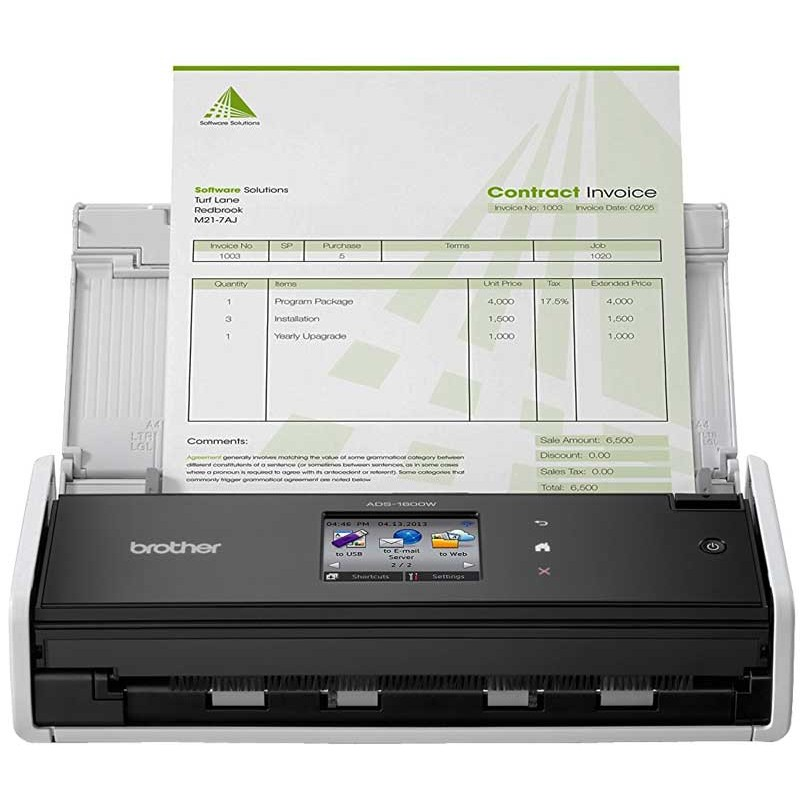 BROTHER - Scanner Sans Fil Compact recto-verso ADS-1600W / Wifi prix tunisie
