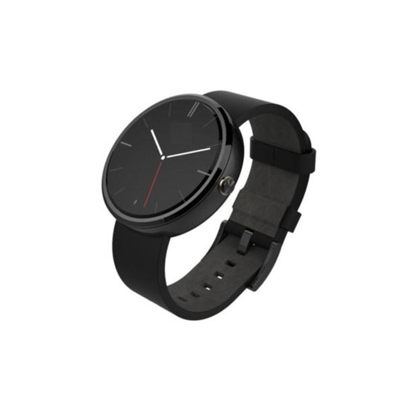 SMARTEC - SmartWatch Argent T3 bracelet Cuir Noir prix tunisie