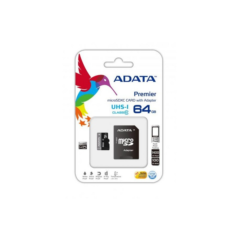 ADATA -  carte memoire 64go avec adaptateur micro sd prix tunisie