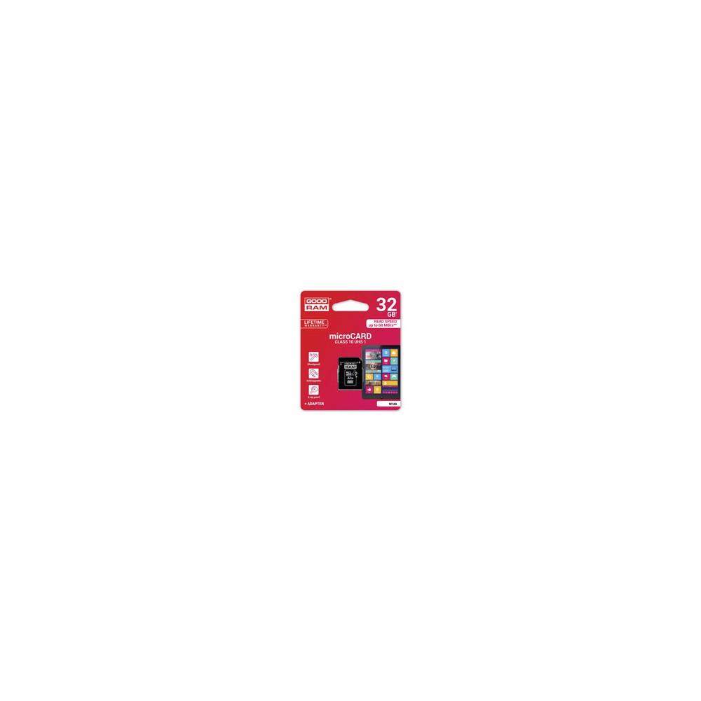 GOODRAM - MICRO CARD 32GB CLASS 10 UHS I + ADAPTER M1AA-0320R11 prix tunisie