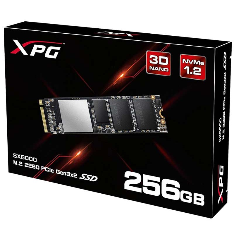 ADATA - DISQUE INTERNE XPG SX6000 256GO SSD PCIE GEN3X2 M.2 2280 prix tunisie
