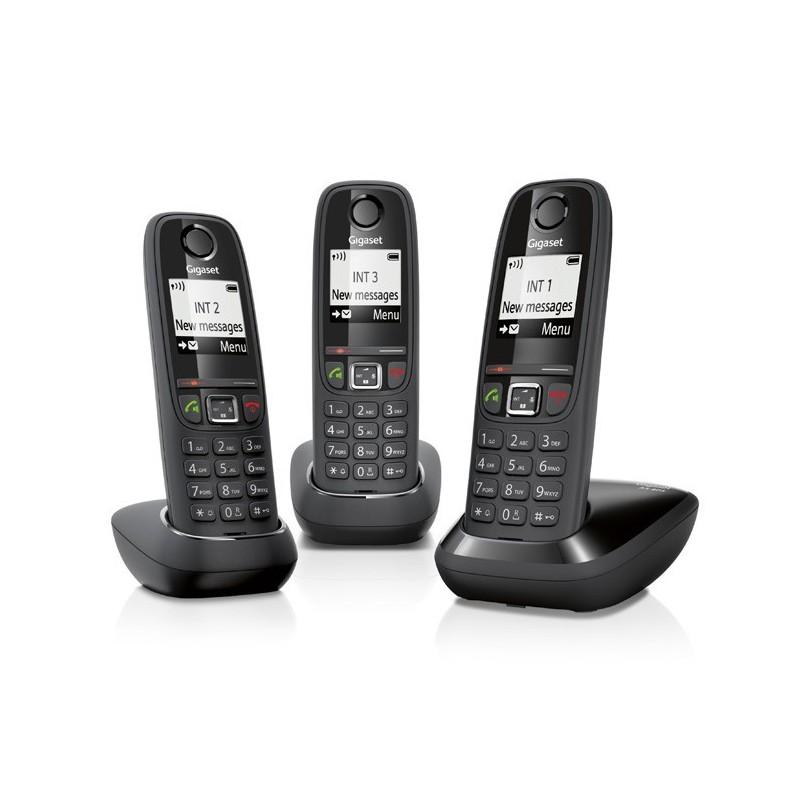 GIGASET - Téléphone fixe sans fil AS405 Trio sans répondeur prix tunisie