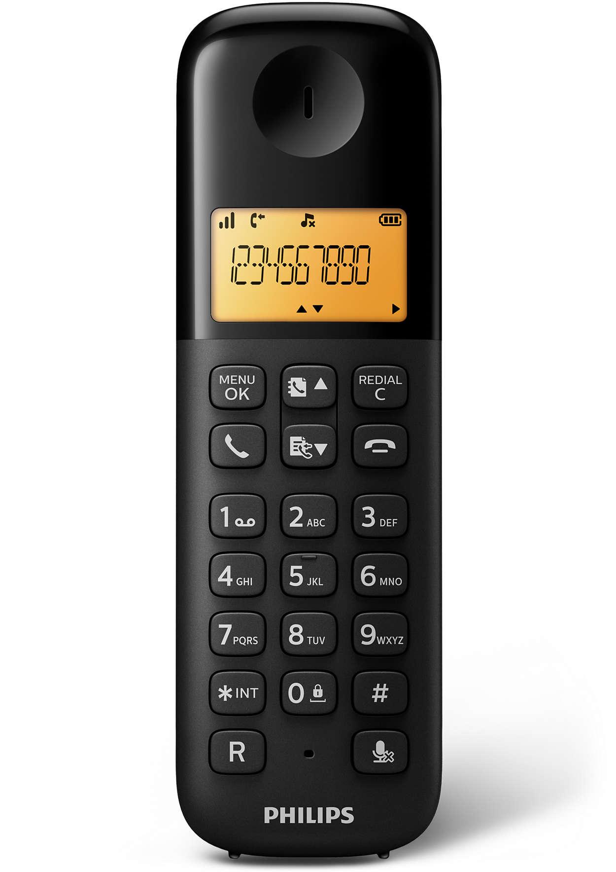 PHILIPS - Téléphone fixe sans fil D1301B/FR prix tunisie