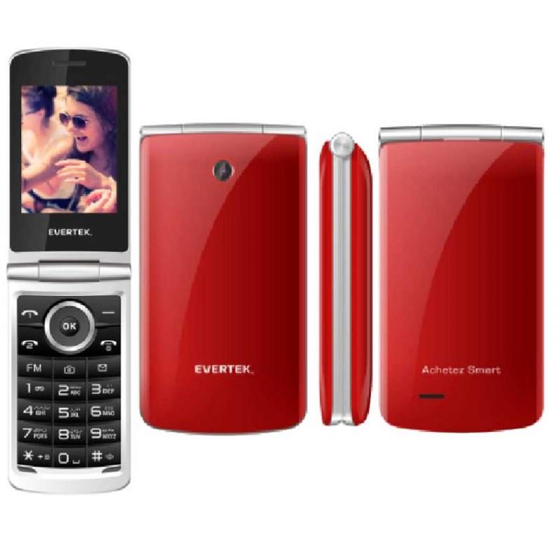 Evertek - Téléphone PORTABLE CLAM DOUBLE SIM prix tunisie
