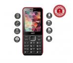 Téléphone classique Noir & Rouge