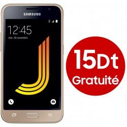 T?l?phone Portable Samsung Galaxy J1 2016 / 3G / Gold + Gratuit? 15DT