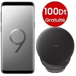 T?l?phone Portable Samsung Galaxy S9 / Gris Orchid?e + SIM Offerte + Chargeur sans fil Offert + Gratuit? 100Dt
