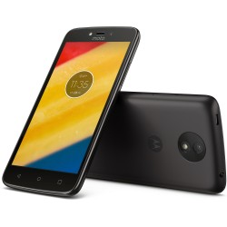 T?l?phone Portable Motorola Moto C Plus / 4G / Noir + Flip Cover