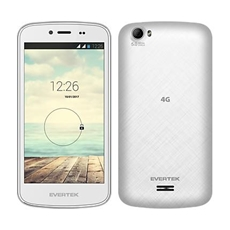 Téléphone Portable Evertek EverGlory Plus / 4G / Double SIM / Blanc