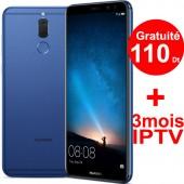 Téléphone Portable Huawei Mate 10 Lite Bleu + Gratuité 110 Dt