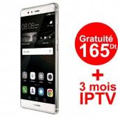 Téléphone Portable Huawei P9 / 4G / Silver + 3 Mois IPTV Offert
